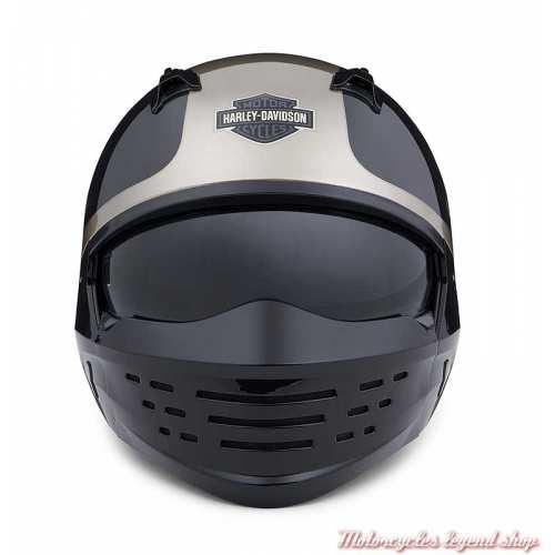 Casque Sport Glide 2 en 1 Harley-Davidson, noir, gris, 3/4 et masque, face, 98176-20EX